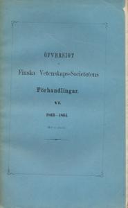 Öfversigt  at Finska Vetenskaps-Societetens,Toimk.