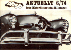 Aktuellt 6/74 från Motorhistoriska Sällskapet,