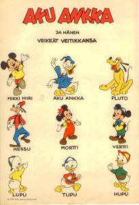 Aku Ankka ja hänen veikeät veitikkansa,Disney Walt