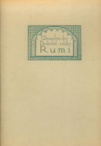 Ghaselen des Dschelâl-eddîn Rumi,
