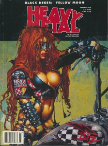 Heavy metal Black deker: Yellow moon,
