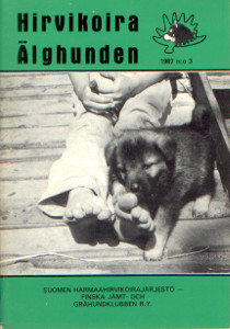 Hirvikoira älghunden 3/1987,