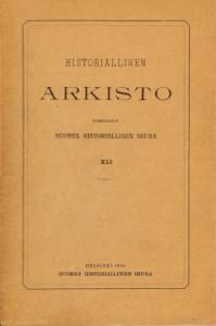 Historiallinen arkisto XLI,