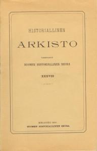 Historiallinen arkisto XXXVIII,