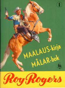 Roy Rogers maalauskirja målar-bok,