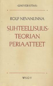 Suhteellisuusteorian periaatteet,Nevanlinna Rolf