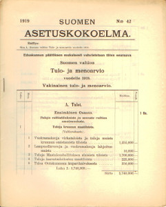Suomen Asetuskokoelma 1919 N:o 42,