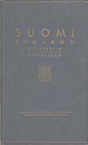 Suomi Finland yleiskartta Generalkarta 1:400 000,