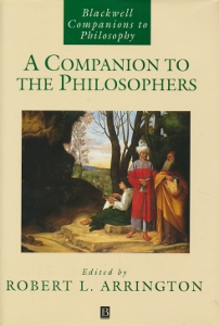 A Companion to the philosophers,Arrington Robert L.