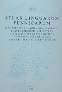 Atlas Linguarum Fennicarum - Alfe 1 - Itämerensuomalainen kielikartasto, Läänemeresoome keeleatlas, Ostseefinnischer sprachatlas,