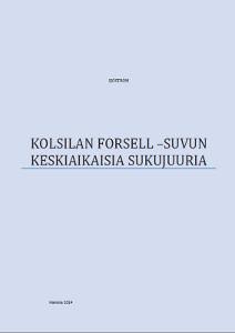 Kolsilan Forsell-suvun keskiaikaisia sukujuuria,Sjöström
