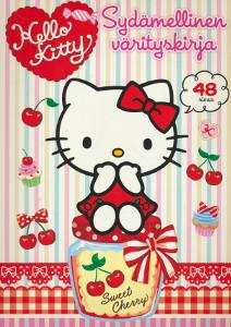 Hello Kitty - Sydämellinen värityskirja,