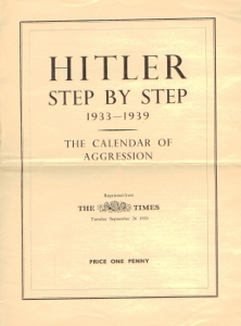Hitler step by step 1933-1939. The Calendar of aggression,