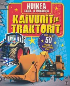 Huikea tarra- ja puuhakirja - Kaivurit ja traktorit,