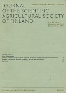 Journal of the scientific agricultural society of Finland - Maataloustieteellinen aikakauskirja,Soininen Arvo M.