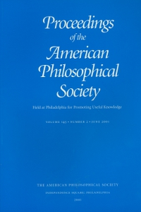 Proceedings of the American Philosophical Society,