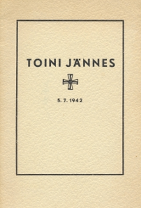 Toini Jännes 5.7.1942,